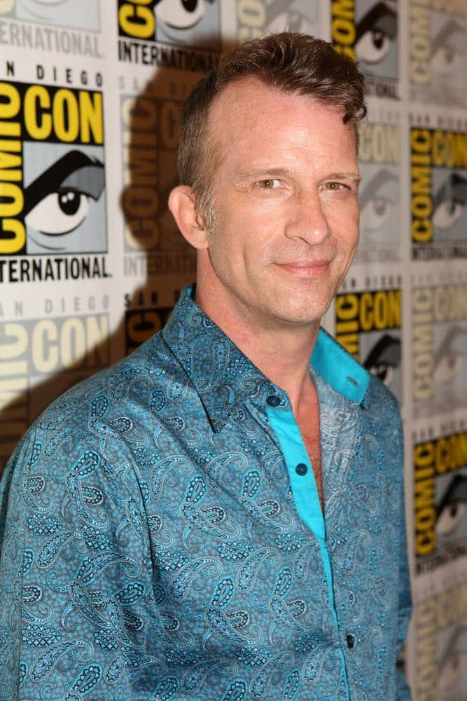 "COMIC-CON INTERNATIONAL: SAN DIEGO -- ""The Expanse Press Room"" -- Pictured: Thomas Jane -- (Photo by: Evans Vestal Ward/Syfy)"