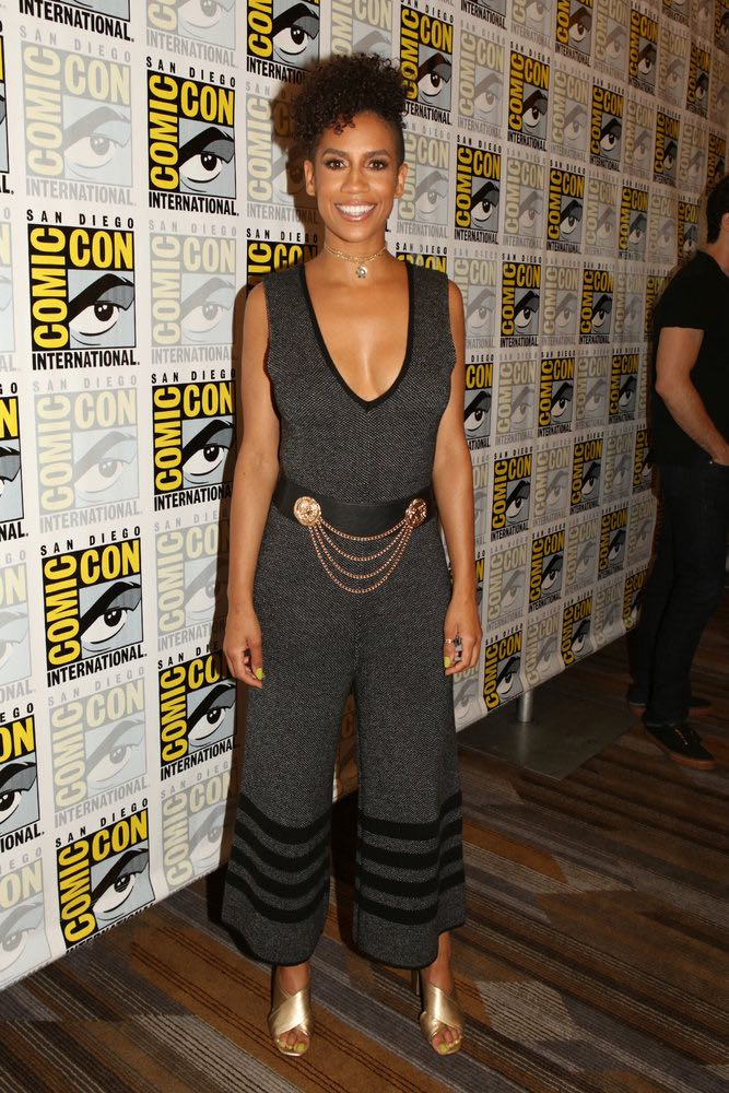 "COMIC-CON INTERNATIONAL: SAN DIEGO -- ""The Expanse Press Room"" -- Pictured: Dominique Tipper -- (Photo by: Evans Vestal Ward/Syfy)"