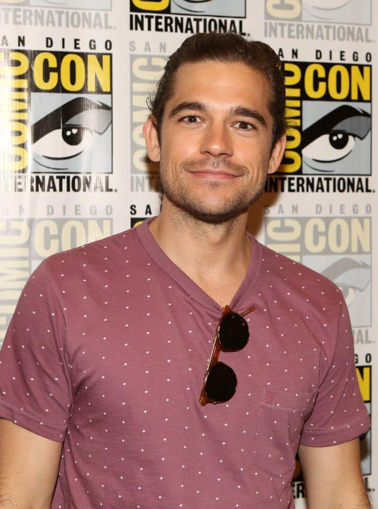 "COMIC-CON INTERNATIONAL: SAN DIEGO -- ""The Magicians Press Room"" -- Pictured: Jason Ralph -- (Photo by: Evans Vestal Ward/Syfy)"