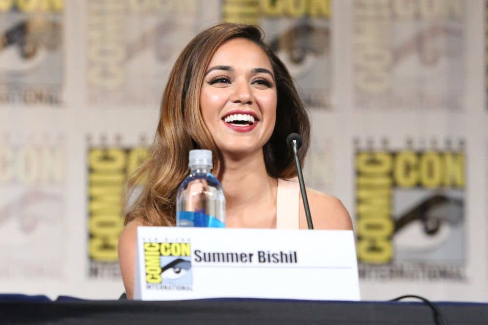 "COMIC-CON INTERNATIONAL: SAN DIEGO -- ""The Magicians Panel"" -- Pictured: Summer Bishila -- (Photo by: Evans Vestal Ward/Syfy)"