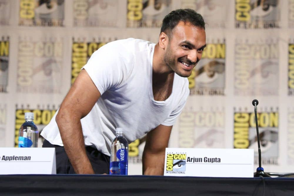 "COMIC-CON INTERNATIONAL: SAN DIEGO -- ""The Magicians Panel"" -- Pictured: Arjun Gupta -- (Photo by: Evans Vestal Ward/Syfy)"