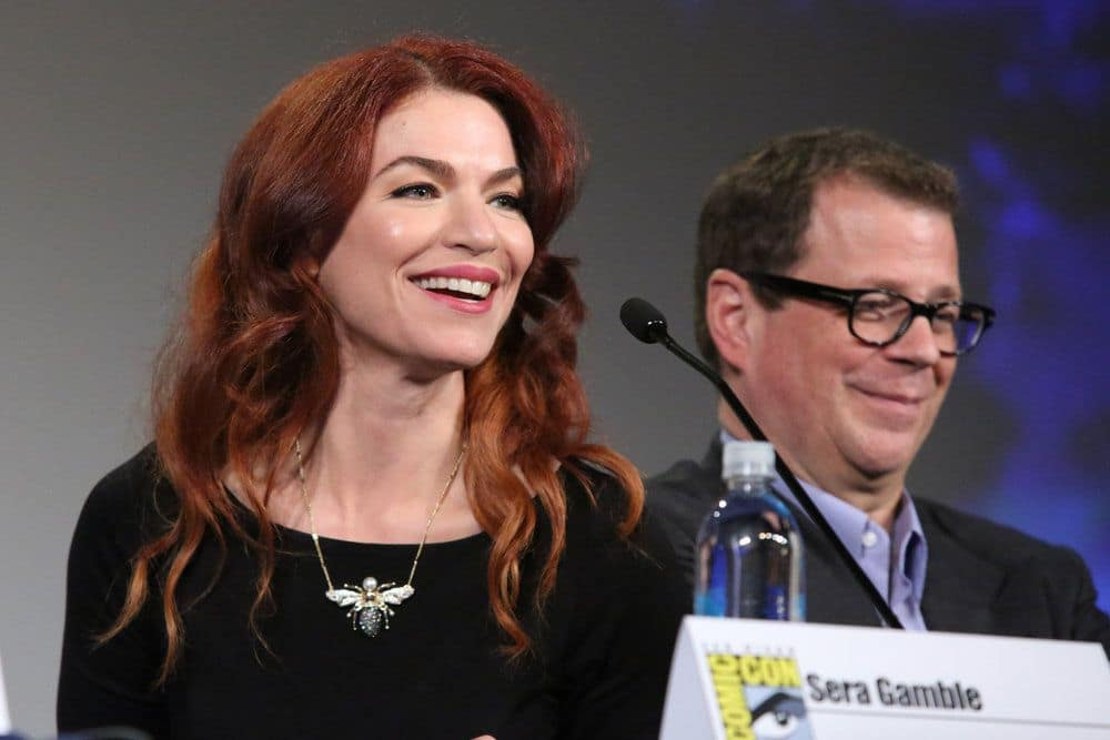 "COMIC-CON INTERNATIONAL: SAN DIEGO -- ""The Magicians Panel"" -- Pictured: (l-r) Executive Producer/Writer Sera Gamble, Executive Producer John McNamara  -- (Photo by: Evans Vestal Ward/Syfy)"