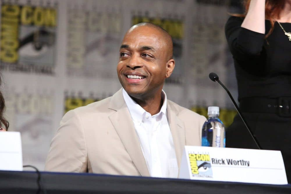 "COMIC-CON INTERNATIONAL: SAN DIEGO -- ""The Magicians Panel"" -- Pictured: Rick Worthy -- (Photo by: Evans Vestal Ward/Syfy)"