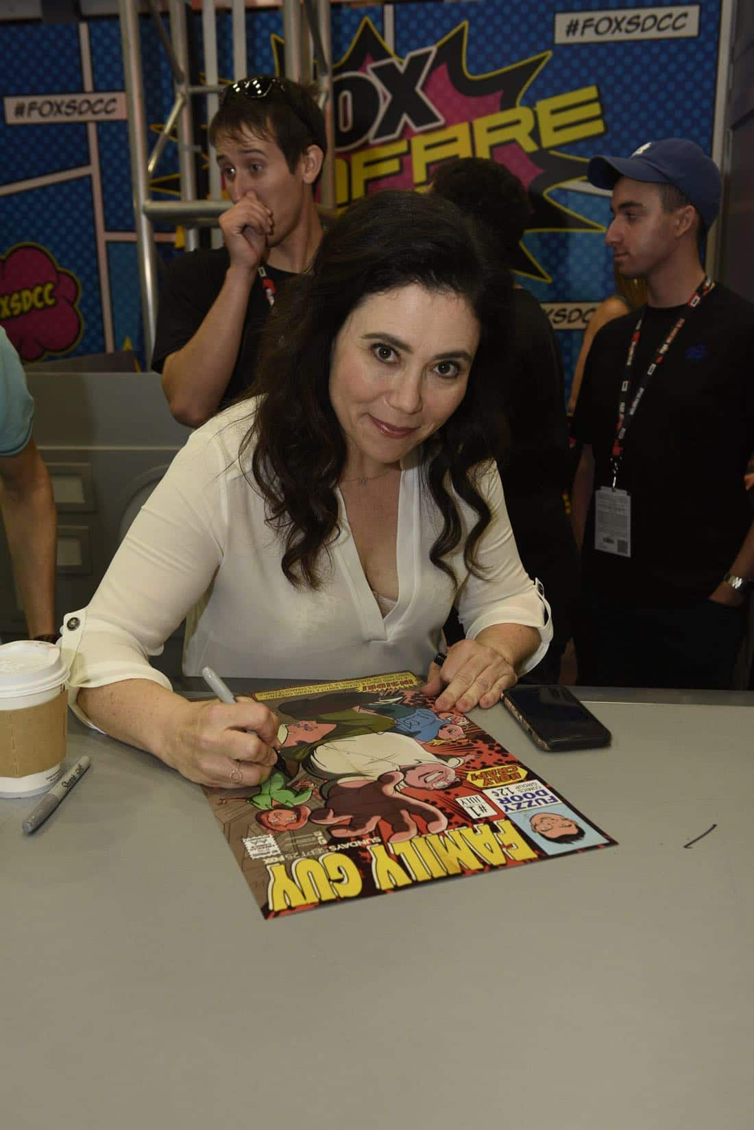 FOX FANFARE AT SAN DIEGO COMIC-CON © 2016: FAMILY GUY cast member Alex Borstein during FAMILY GUY booth signing on Saturday, July 23 at the FOX FANFARE AT SAN DIEGO COMIC-CON © 2016. CR: Alan Hess/FOX © 2016 FOX BROADCASTING