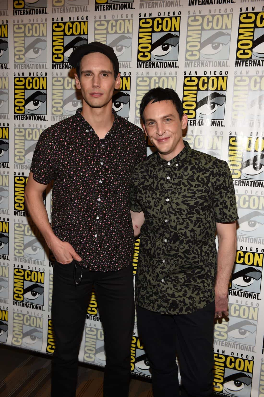 FOX FANFARE AT SAN DIEGO COMIC-CON © 2016: GOTHAM cast member Cory Michael Smith and Robin Lord Taylor during GOTHAM press room on Saturday, July 23 at the FOX FANFARE AT SAN DIEGO COMIC-CON © 2016. CR: Scott Kirkland/FOX © 2016 FOX BROADCASTING
