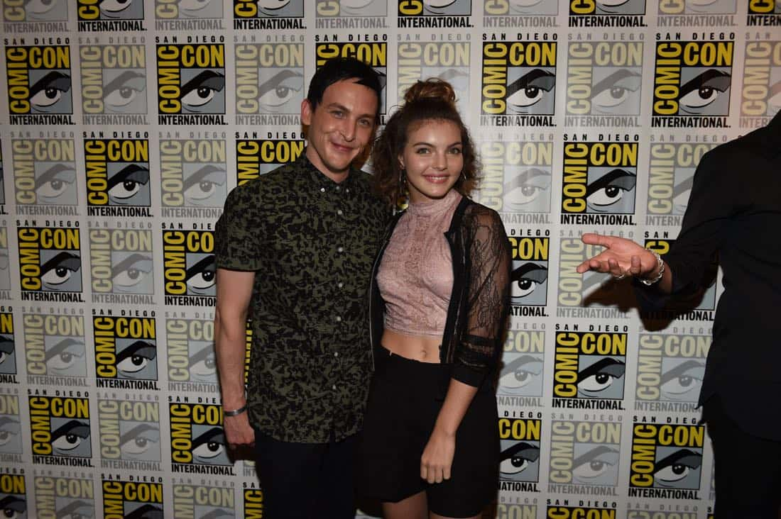 FOX FANFARE AT SAN DIEGO COMIC-CON © 2016: GOTHAM cast member Robin Lord Taylor and Camren Bicondova during GOTHAM press room on Saturday, July 23 at the FOX FANFARE AT SAN DIEGO COMIC-CON © 2016. CR: Scott Kirkland/FOX © 2016 FOX BROADCASTING