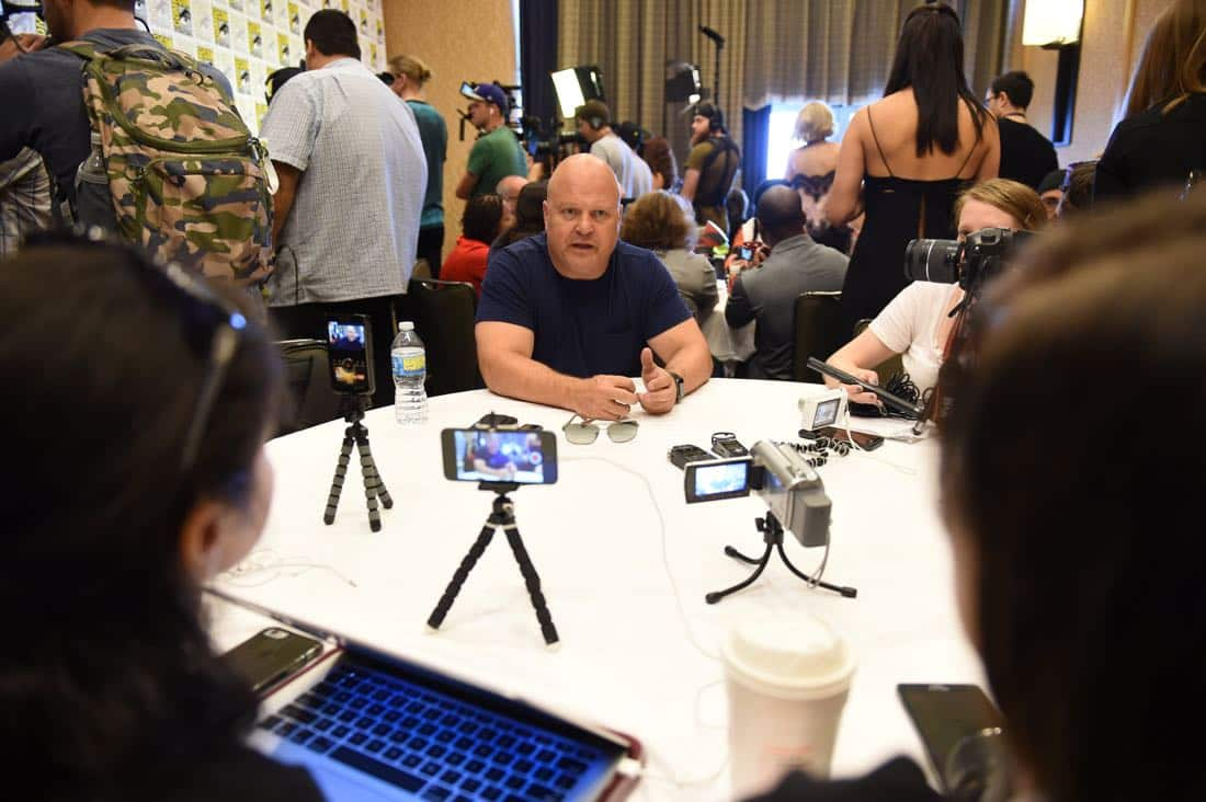 FOX FANFARE AT SAN DIEGO COMIC-CON © 2016: GOTHAM cast member Michael Chiklis during GOTHAM press room on Saturday, July 23 at the FOX FANFARE AT SAN DIEGO COMIC-CON © 2016. CR: Scott Kirkland/FOX © 2016 FOX BROADCASTING