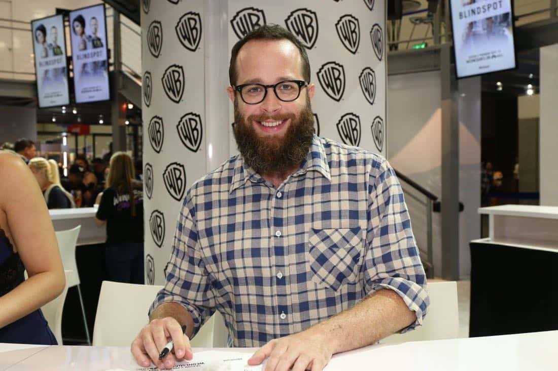 Creator/executive producer Martin Gero signs autographs for excited BLINDSPOT fans at the Warner Bros. booth during Comic-Con 2016 on Friday, July 22. #WBSDCC ( © 2016 WBEI. All Rights Reserved)