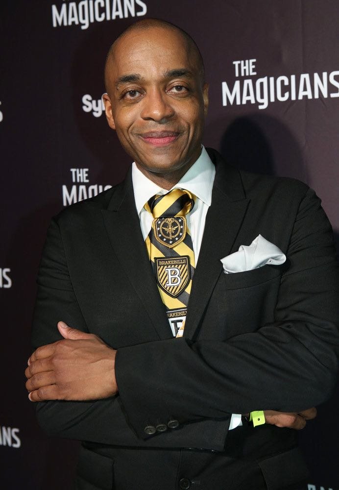 """COMIC-CON INTERNATIONAL: SAN DIEGO -- """"The Magicians Party at Hotel Solamar"""" -- Pictured: Rick Worthy -- (Photo by: Evans Vestal Ward/Syfy)"""