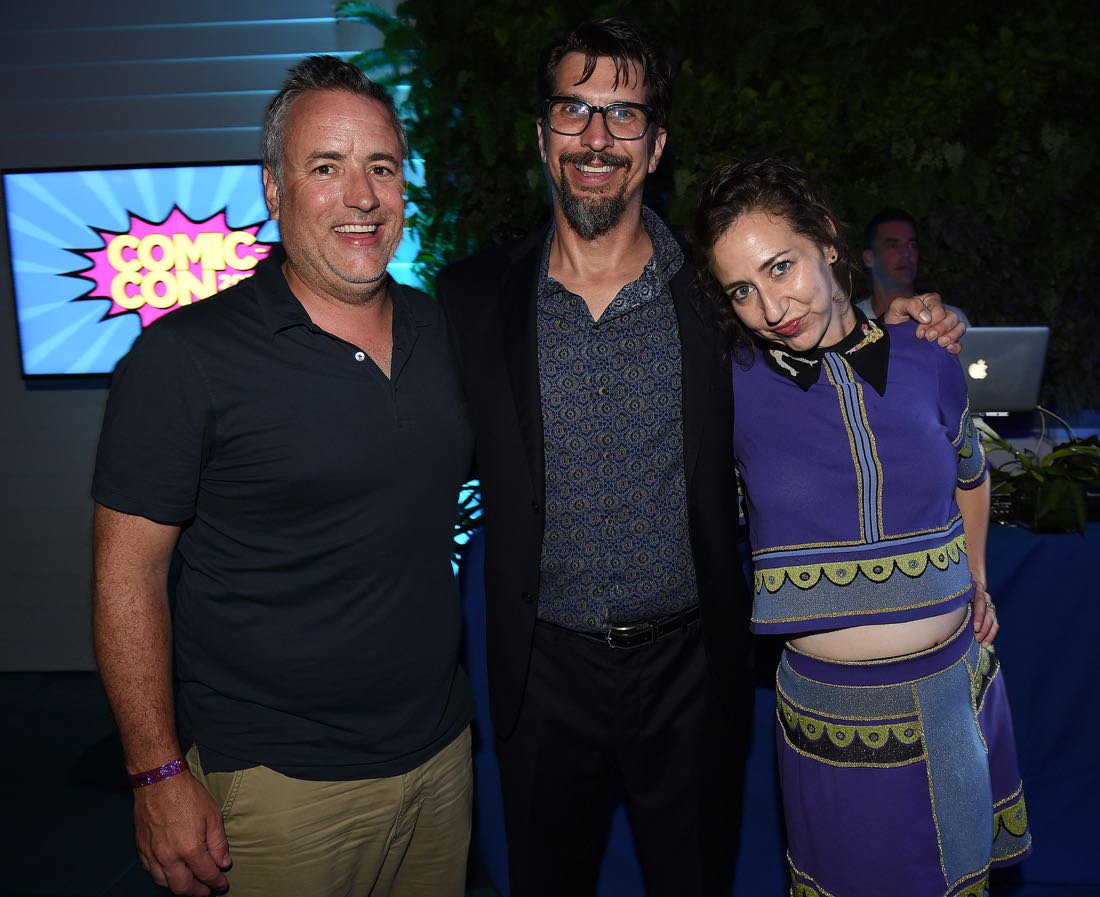 FOX FANFARE ALL-STAR COMIC CON PARTY AT SAN DIEGO COMIC-CON © 2016: Larry Murphy, Lucky Yates, and Kristen Schaal attend the FOX FANFARE ALL-STAR COMIC CON PARTY AT SAN DIEGO COMIC-CON © 2016 on Friday, July 22 at the Andaz Hotel in San Diego, CA. CR: Frank Micelotta/FOX © 2016 FOX BROADCASTING