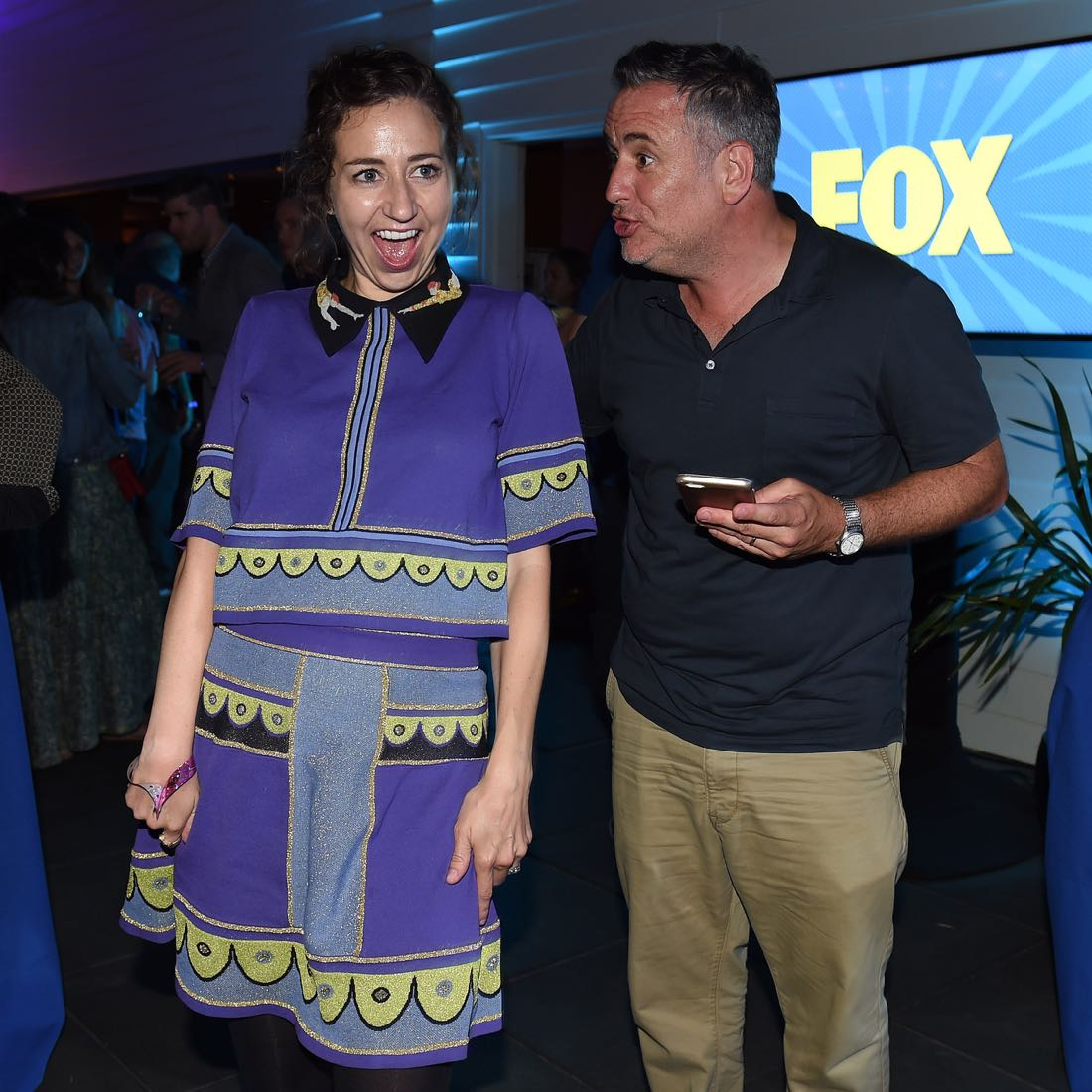 FOX FANFARE ALL-STAR COMIC CON PARTY AT SAN DIEGO COMIC-CON © 2016: Kristen Schaal and Larry Murphy attend the FOX FANFARE ALL-STAR COMIC CON PARTY AT SAN DIEGO COMIC-CON © 2016 on Friday, July 22 at the Andaz Hotel in San Diego, CA. CR: Frank Micelotta/FOX © 2016 FOX BROADCASTING