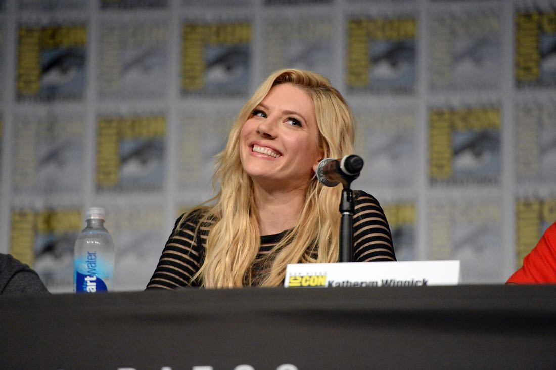 "SAN DIEGO, CA - JULY 22: Actress Katheryn Winnick attends the ""Vikings"" panel during Comic-Con International 2016 at San Diego Convention Center on July 22, 2016 in San Diego, California. (Photo by Charley Gallay/Getty Images for HISTORY )"