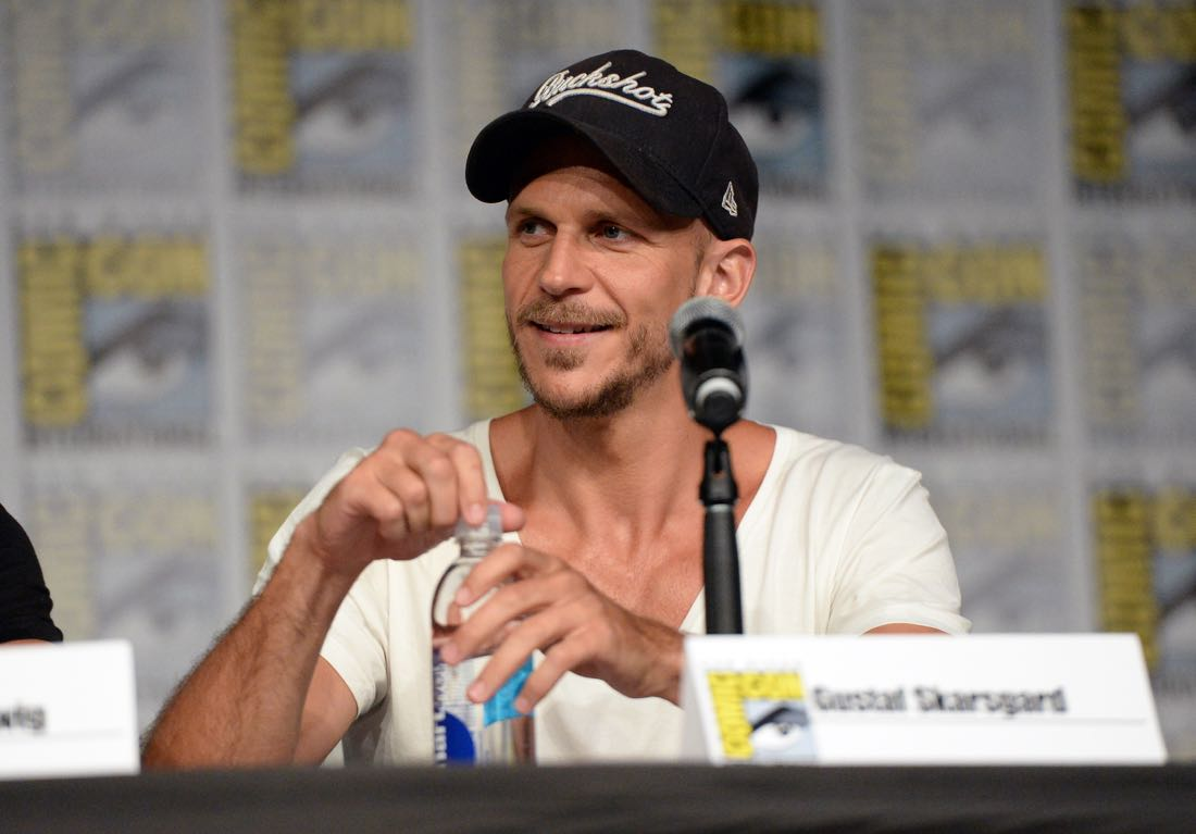 "SAN DIEGO, CA - JULY 22: Actor Gustaf Skarsgard attends the ""Vikings"" panel during Comic-Con International 2016 at San Diego Convention Center on July 22, 2016 in San Diego, California. (Photo by Charley Gallay/Getty Images for HISTORY )"