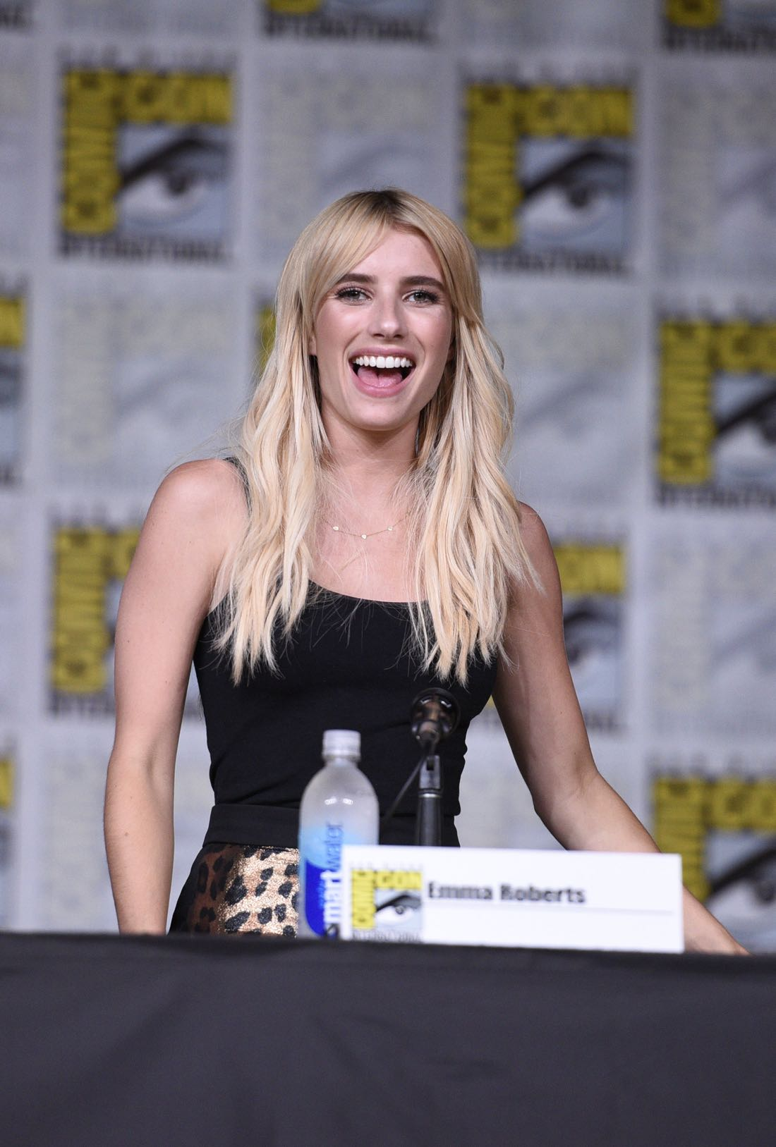 FOX FANFARE AT SAN DIEGO COMIC-CON © 2016: SCREAM QUEENS cast member Emma Roberts during the SCREAM QUEENS panel on Friday, July 22 at the FOX FANFARE AT SAN DIEGO COMIC-CON © 2016. CR: Alan Hess/FOX © 2016 FOX BROADCASTING