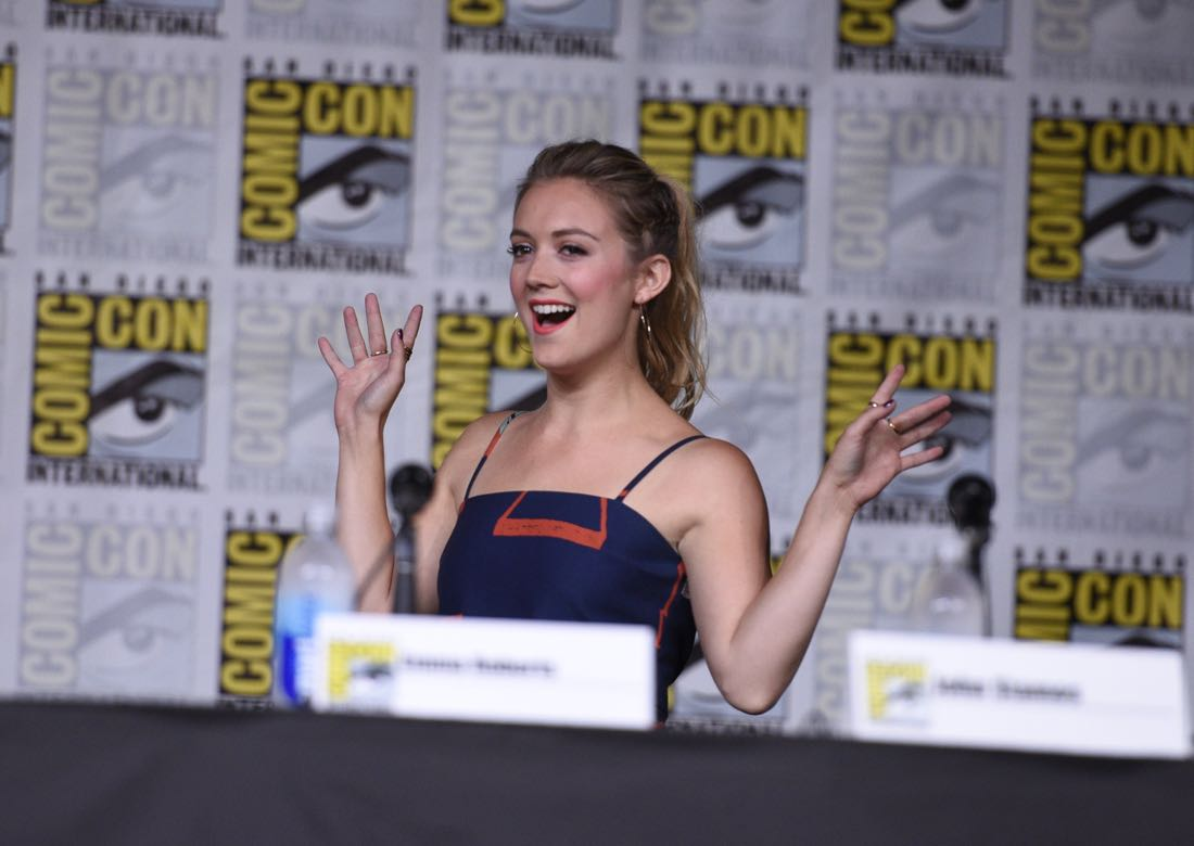 FOX FANFARE AT SAN DIEGO COMIC-CON © 2016: SCREAM QUEENS cast member Billie Lourd during the SCREAM QUEENS panel on Friday, July 22 at the FOX FANFARE AT SAN DIEGO COMIC-CON © 2016. CR: Alan Hess/FOX © 2016 FOX BROADCASTING
