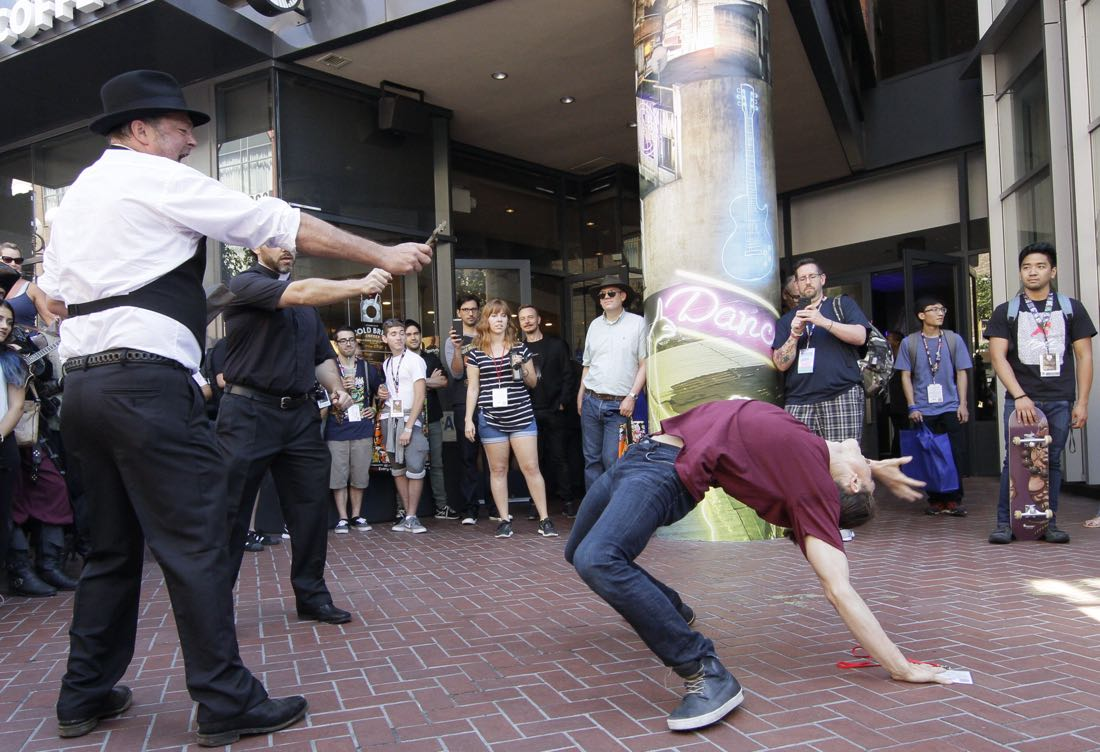 FOX FANFARE AT SAN DIEGO COMIC-CON © 2016: Stunt actors and fans during surprise exorcism performed on Friday, July 22 at the FOX FANFARE AT SAN DIEGO COMIC-CON © 2016. CR: Frank Micelotta/FOX © 2016 FOX BROADCASTING