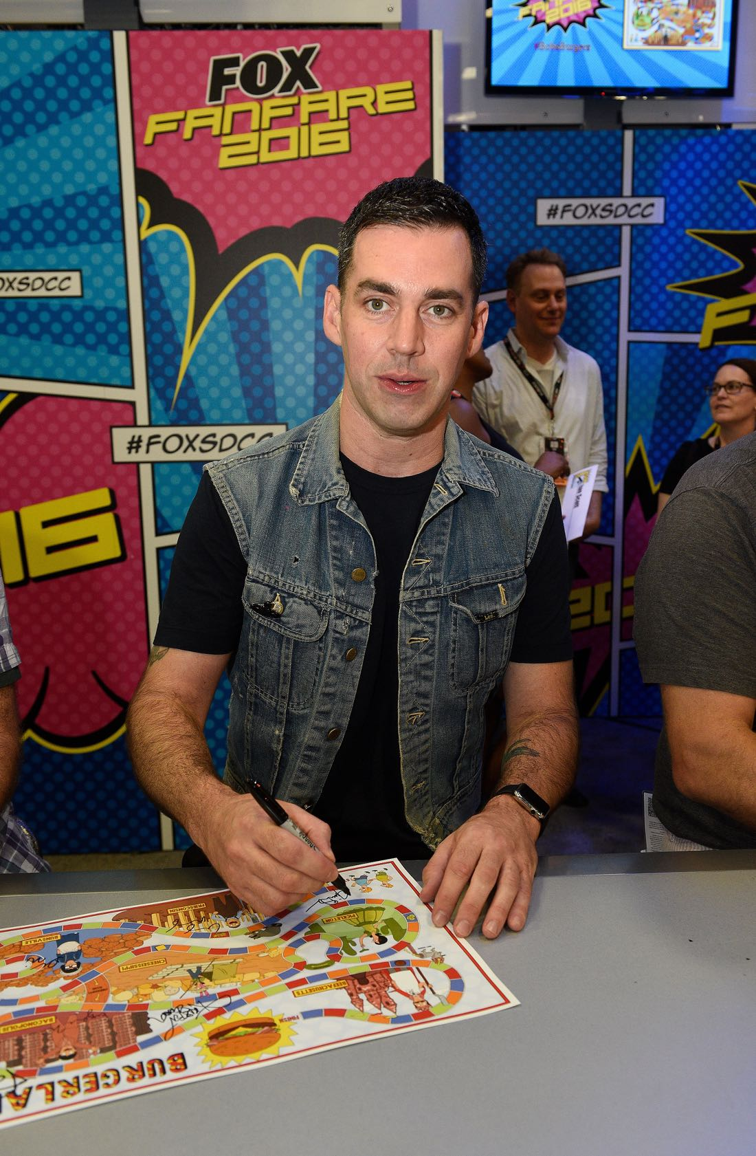 FOX FANFARE AT SAN DIEGO COMIC-CON © 2016: BOB'S BURGERS cast member John Roberts during BOB'S BURGERS booth signing on Friday, July 22 at the FOX FANFARE AT SAN DIEGO COMIC-CON © 2016. CR: Alan Hess/FOX © 2016 FOX BROADCASTING