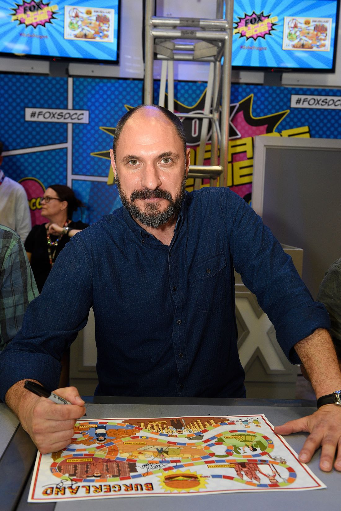 FOX FANFARE AT SAN DIEGO COMIC-CON © 2016: BOB'S BURGERS executive producer Loren Bouchard during BOB'S BURGERS booth signing on Friday, July 22 at the FOX FANFARE AT SAN DIEGO COMIC-CON © 2016. CR: Alan Hess/FOX © 2016 FOX BROADCASTING