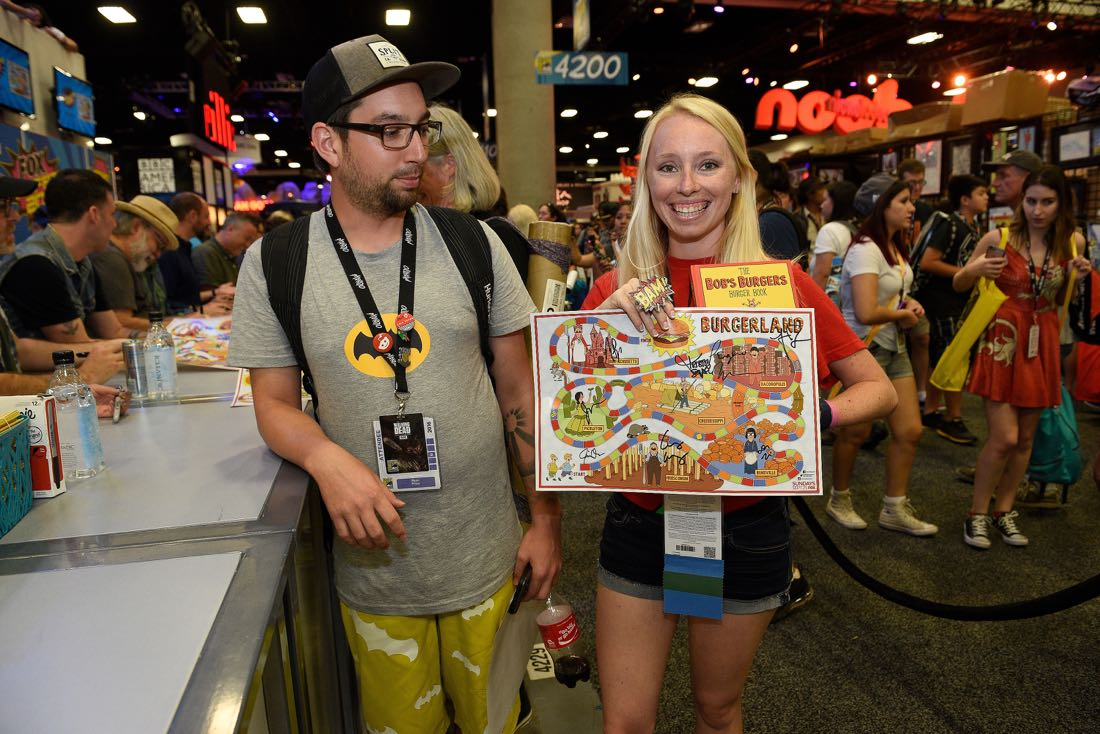 FOX FANFARE AT SAN DIEGO COMIC-CON © 2016: BOB'S BURGERS fans during BOB'S BURGERS booth signing on Friday, July 22 at the FOX FANFARE AT SAN DIEGO COMIC-CON © 2016. CR: Alan Hess/FOX © 2016 FOX BROADCASTING