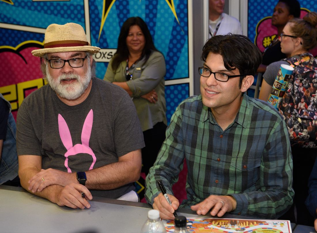 FOX FANFARE AT SAN DIEGO COMIC-CON © 2016: L-R: BOB'S BURGERS executive producer Jim Dauterine and cast member Dan Mintz during BOB'S BURGERS booth signing on Friday, July 22 at the FOX FANFARE AT SAN DIEGO COMIC-CON © 2016. CR: Alan Hess/FOX © 2016 FOX BROADCASTING