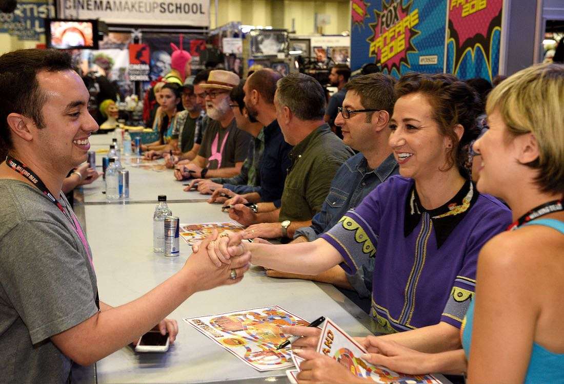 FOX FANFARE AT SAN DIEGO COMIC-CON © 2016: L-R: BOB'S BURGERS cast member Kristen Schaal during BOB'S BURGERS booth signing on Friday, July 22 at the FOX FANFARE AT SAN DIEGO COMIC-CON © 2016. CR: Alan Hess/FOX © 2016 FOX BROADCASTING