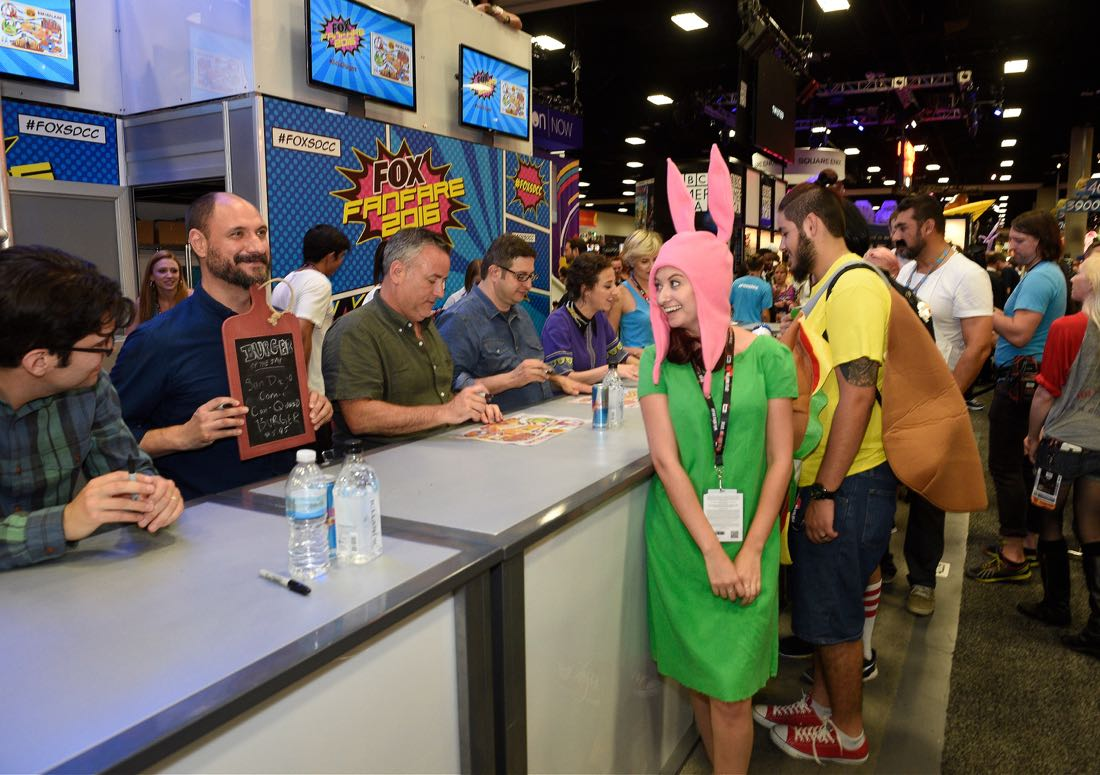 FOX FANFARE AT SAN DIEGO COMIC-CON © 2016: BOB'S BURGERS executive producer Loren Bouchard (L) during BOB'S BURGERS booth signing on Friday, July 22 at the FOX FANFARE AT SAN DIEGO COMIC-CON © 2016. CR: Alan Hess/FOX © 2016 FOX BROADCASTING