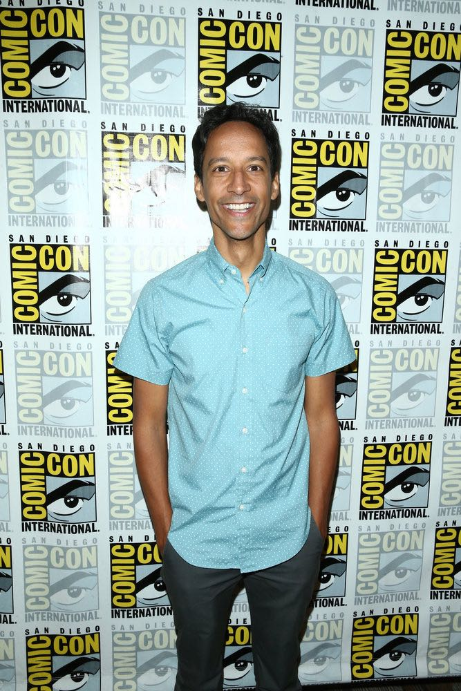 "COMIC-CON INTERNATIONAL: SAN DIEGO 2016 -- ""Powerless Press Room and Carpet"" -- Pictured: Danny Pudi -- (Photo by: Mark Davis/NBC)"
