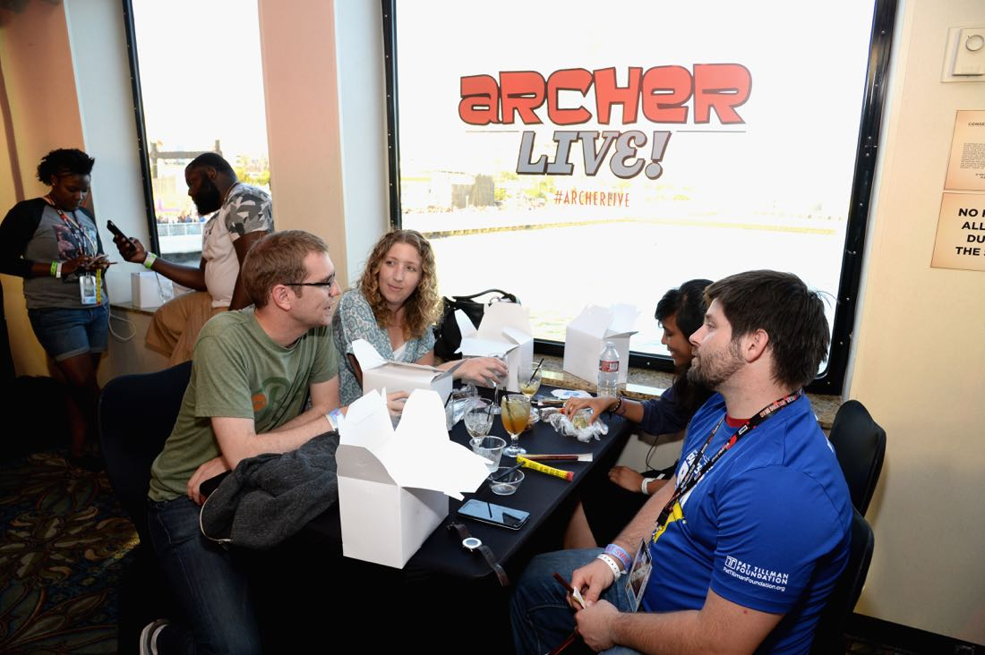 """SAN DIEGO, CA - JULY 21: Guests attend """"ARCHER Live!"""" during Comic-Con International 2016 at Hilton Bayfront on July 21, 2016 in San Diego, California. (Photo by Michael Kovac/Getty Images for FX)"""