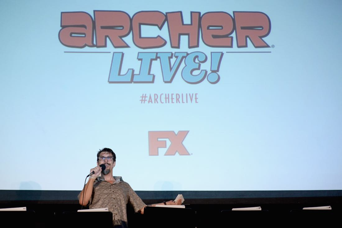 """SAN DIEGO, CA - JULY 21: Actor Lucky Yates speaks at """"ARCHER Live!"""" during Comic-Con International 2016 at Hilton Bayfront on July 21, 2016 in San Diego, California. (Photo by Michael Kovac/Getty Images for FX)"""