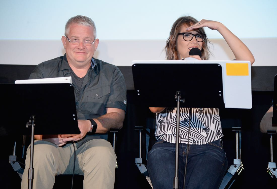 """SAN DIEGO, CA - JULY 21: Actors Adam Reed and Amber Nash speak at """"ARCHER Live!"""" during Comic-Con International 2016 at Hilton Bayfront on July 21, 2016 in San Diego, California. (Photo by Michael Kovac/Getty Images for FX)"""