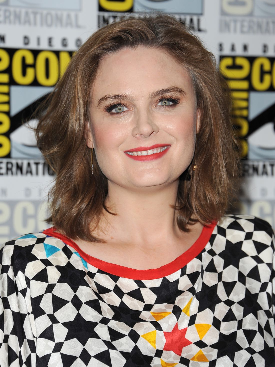 FOX FANFARE AT SAN DIEGO COMIC-CON © 2016: BONES cast member Emily Deschanel during the BONES press room on Friday, July 22 at the FOX FANFARE AT SAN DIEGO COMIC-CON © 2016. CR: Scott Kirkland/FOX © 2016 FOX BROADCASTING
