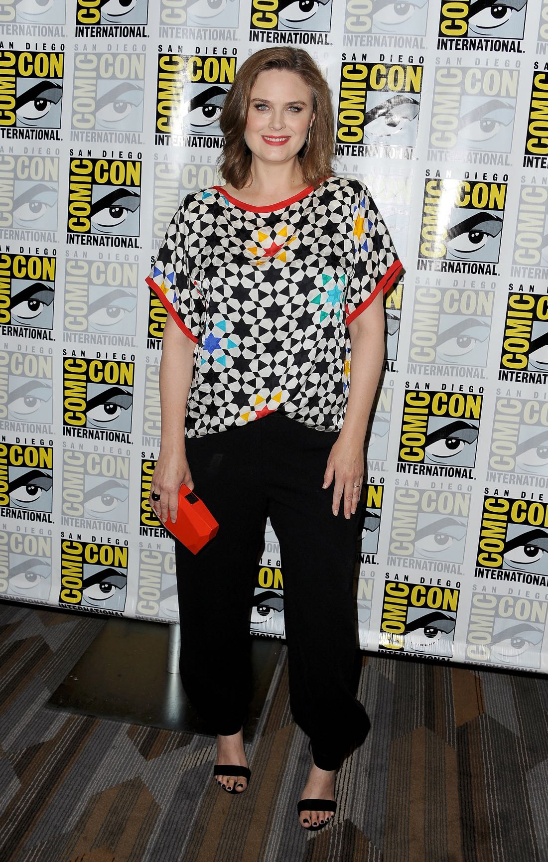 FOX FANFARE AT SAN DIEGO COMIC-CON © 2016: L-R: BONES cast member Emily Deschanel during the BONES press room on Friday, July 22 at the FOX FANFARE AT SAN DIEGO COMIC-CON © 2016. CR: Scott Kirkland/FOX © 2016 FOX BROADCASTING