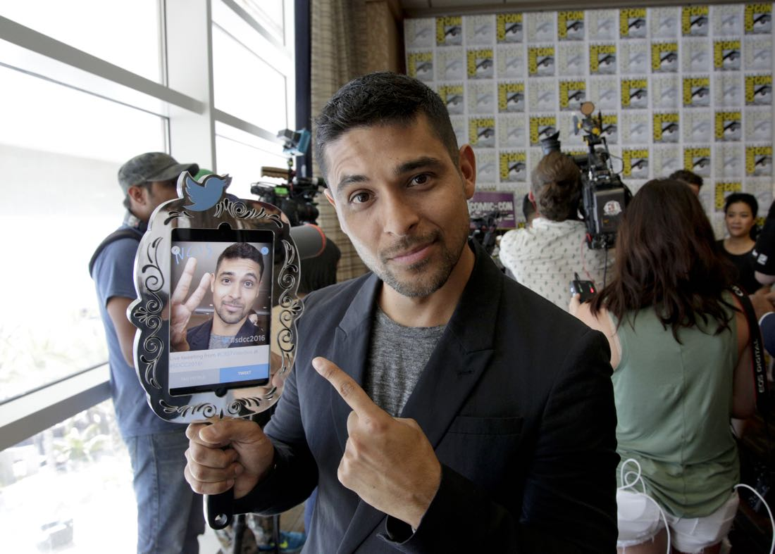 Wilmer Valderrama of NCIS at COMIC-CON® 2016 in San Diego, California. Photo: Francis Specker/CBS ©2016 CBS Broadcasting, Inc. All Rights Reserved