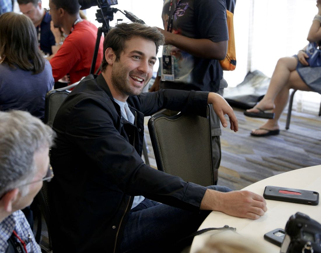James Wolk of Zoo at COMIC-CON® 2016 in San Diego, California. Photo: Francis Specker/CBS ©2016 CBS Broadcasting, Inc. All Rights Reserved