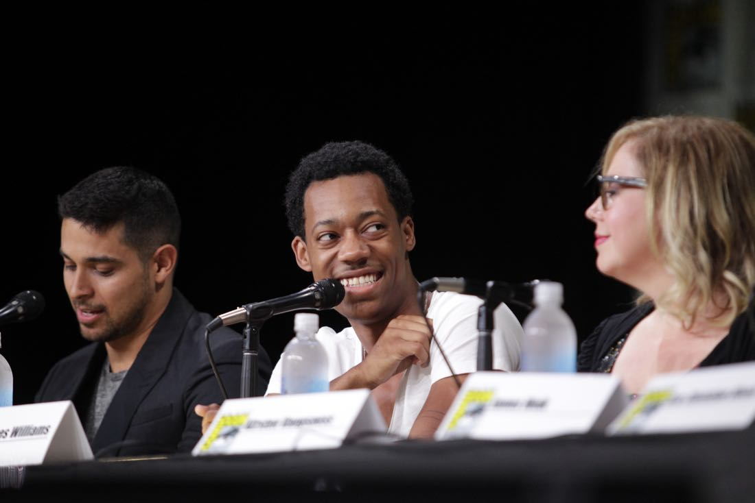 Tyler James Williams of Criminal Minds: Beyond Borders during the CBS Fan Favorites panel discussion moderated by Kevin Frazier at COMIC-CON® 2016 in San Diego, California. Photo: Francis Specker/CBS ©2016 CBS Broadcasting, Inc. All Rights Reserved