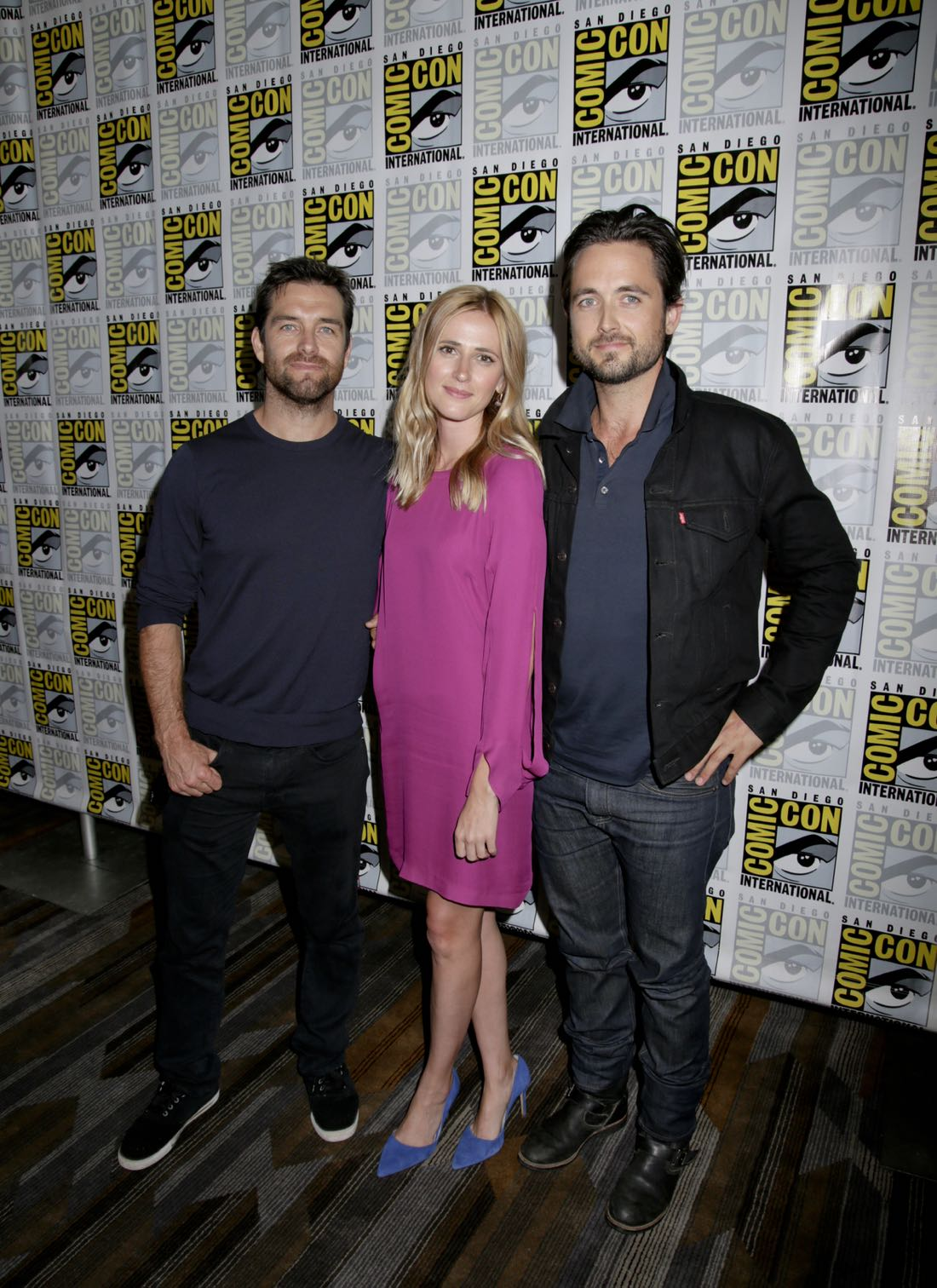 Justin Chatwin, Megan Ketch, and Antony Starr of American Gothic at COMIC-CON® 2016 in San Diego, California. Photo: Johnny Vy/CBS ©2016 CBS Broadcasting, Inc. All Rights Reserved