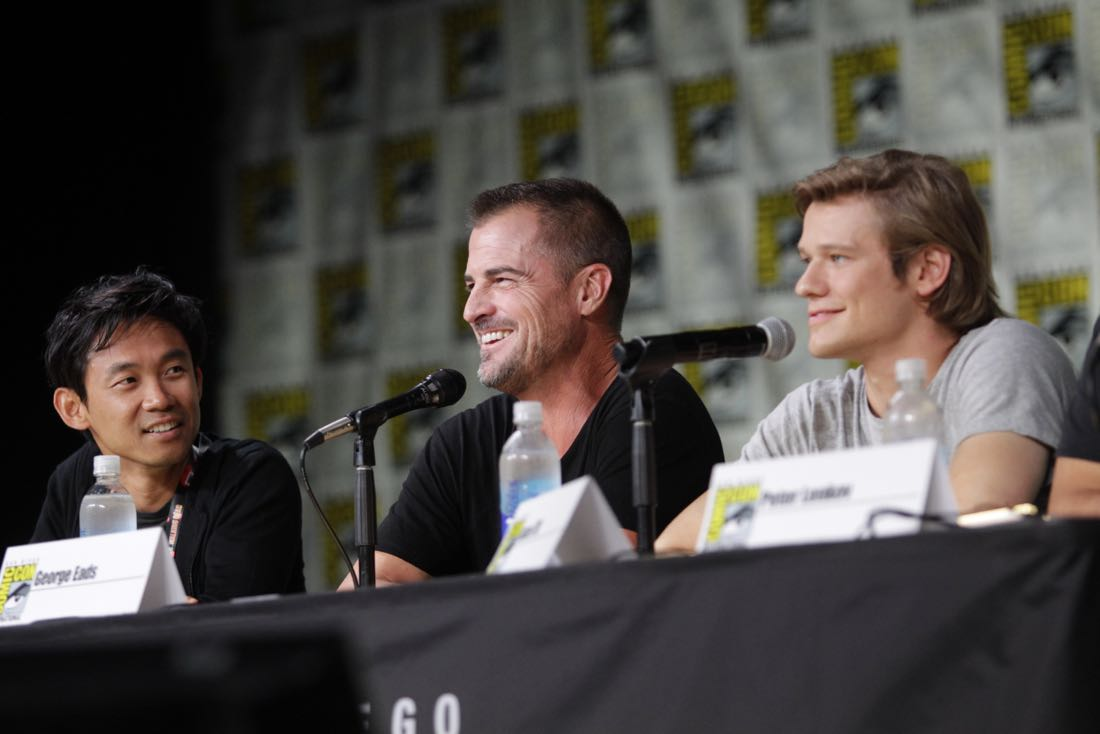 James Wan, Executive Producer, George Eads, and Lucas Till of the CBS series MACGYVER during the panel discussion at COMIC-CON® 2016 in San Diego, California. Photo: Francis Specker/CBS ©2016 CBS Broadcasting, Inc. All Rights Reserved