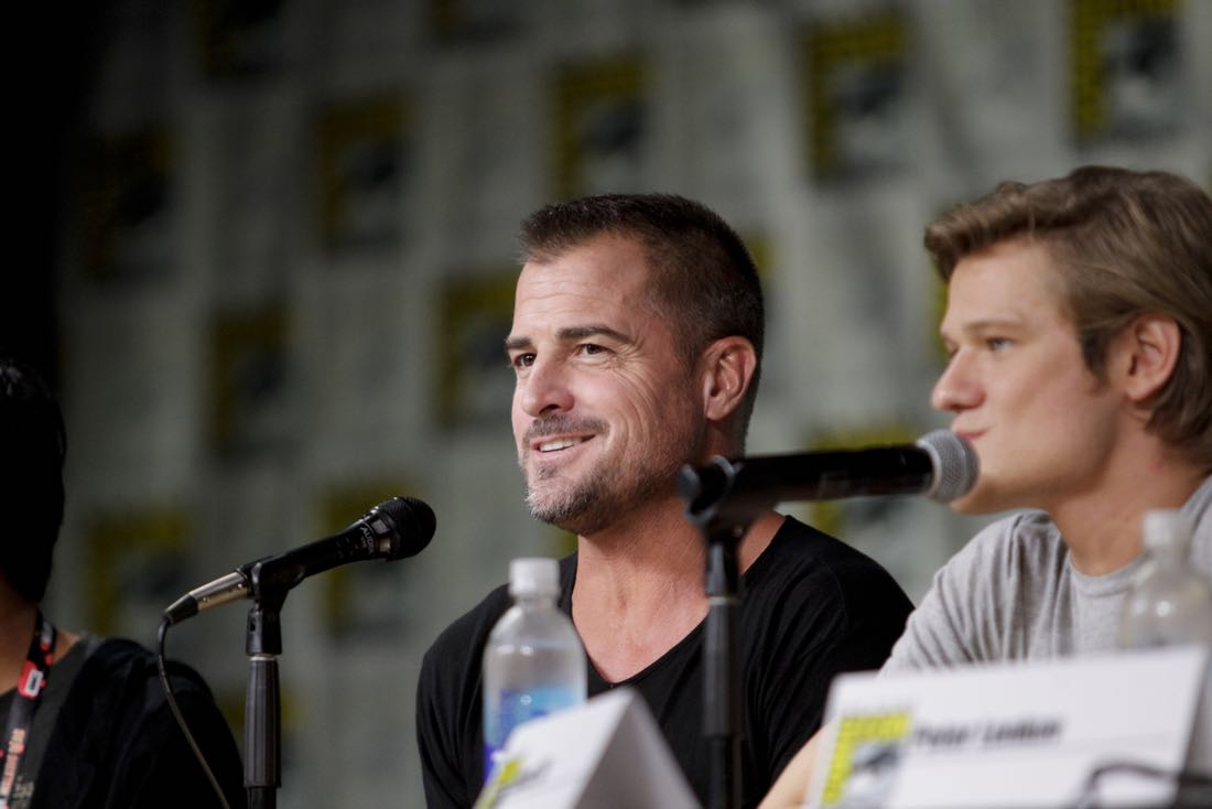 George Eads of the CBS series MACGYVER during the panel discussion at COMIC-CON® 2016 in San Diego, California. Photo: Francis Specker/CBS ©2016 CBS Broadcasting, Inc. All Rights Reserved