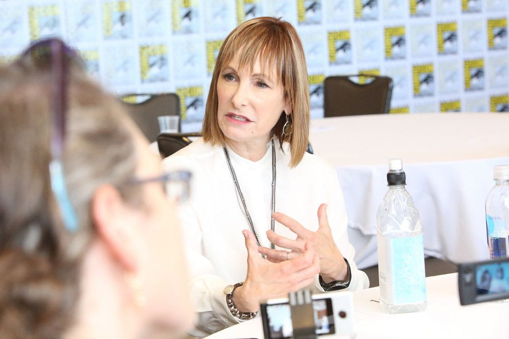 "COMIC-CON INTERNATIONAL: SAN DIEGO -- ""Falling Water Press Room"" -- Pictured: Executive Producer Gale Anne Hurd -- (Photo by: Evans Vestal Ward/USA Network)"