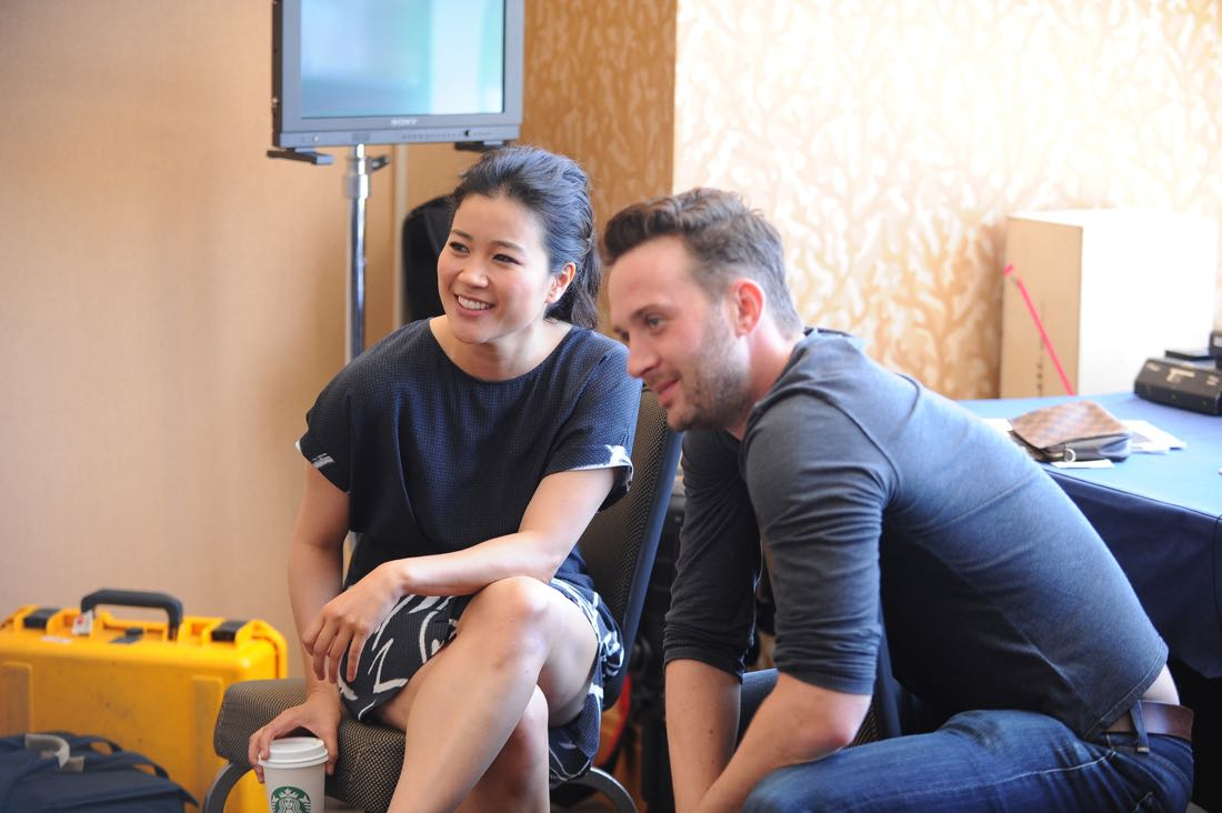 The cast of Scorpion goes live on Facebook with CBS Interactive at COMIC-CON® 2016 in San Diego, California.Pictured: Jadyn Wong and Eddie Kaye Thomas Photo: Johnny Vy/CBS ©2016 CBS Broadcasting, Inc. All Rights Reserved