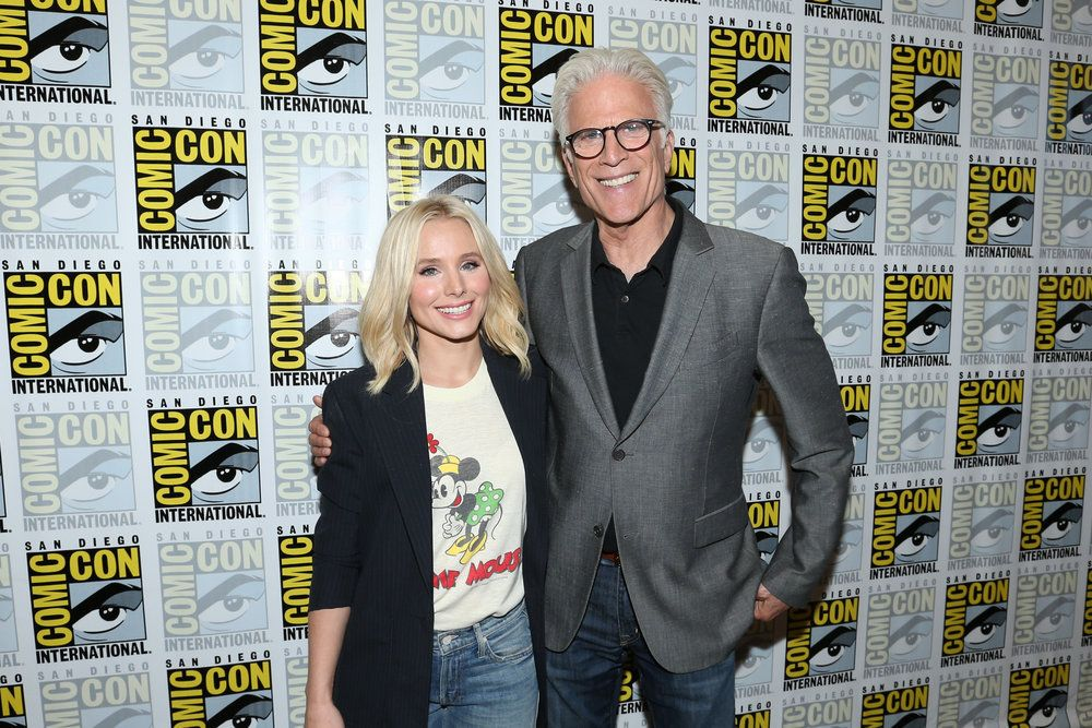 "COMIC-CON INTERNATIONAL: SAN DIEGO 2016 -- ""The Good Place"" Press Room -- Pictured: (l-r) Kristen Bell, Ted Danson -- (Photo by: Mark Davis/NBC)"
