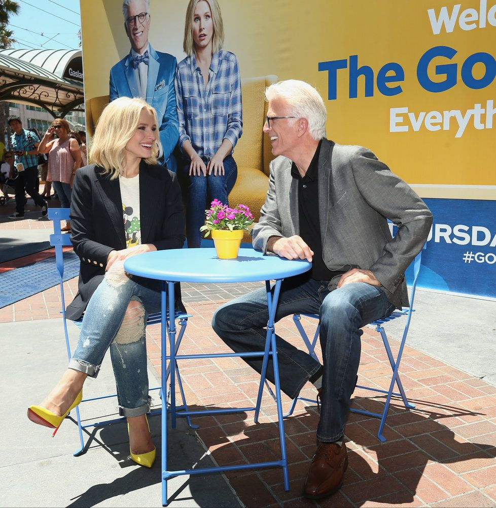 "COMIC-CON INTERNATIONAL: SAN DIEGO 2016 -- ""NBC at Comic-Con"" -- Pictured: (l-r) Kristen Bell, Ted Danson, ""The Good Place"" Activation at Tin Fish, San Diego, Calif., July 21, 2016 -- (Photo by: Mark Davis/NBC)"