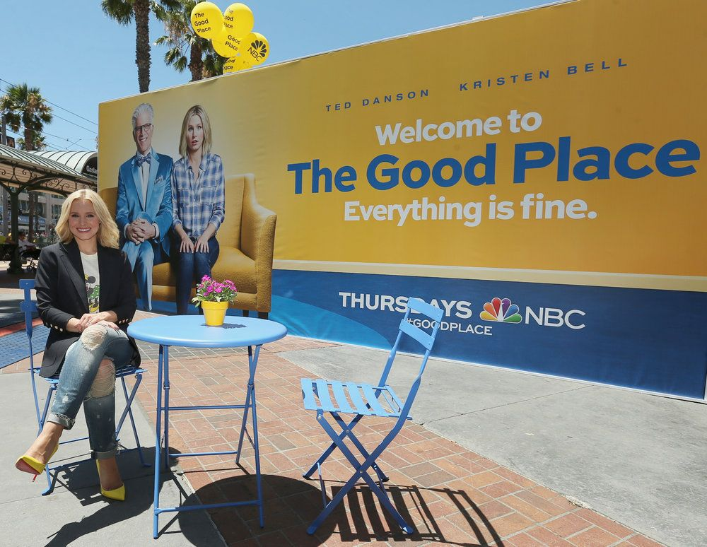 "COMIC-CON INTERNATIONAL: SAN DIEGO 2016 -- ""NBC at Comic-Con"" -- Pictured: Kristen Bell, ""The Good Place"" Activation at Tin Fish, San Diego, Calif., July 21, 2016 -- (Photo by: Mark Davis/NBC)"