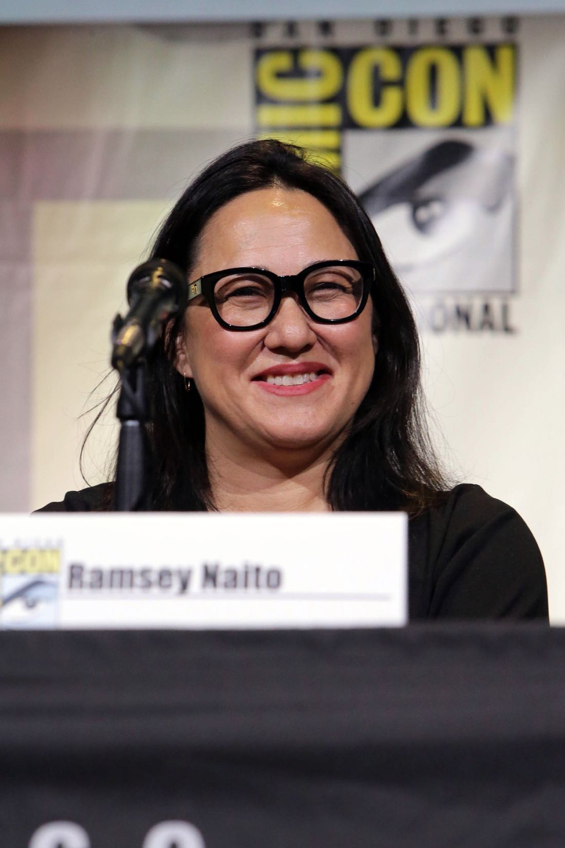 THE BOSS BABY Producer Ramsey Naito at DreamWorks Animation's Comic Con Hall H Panel.