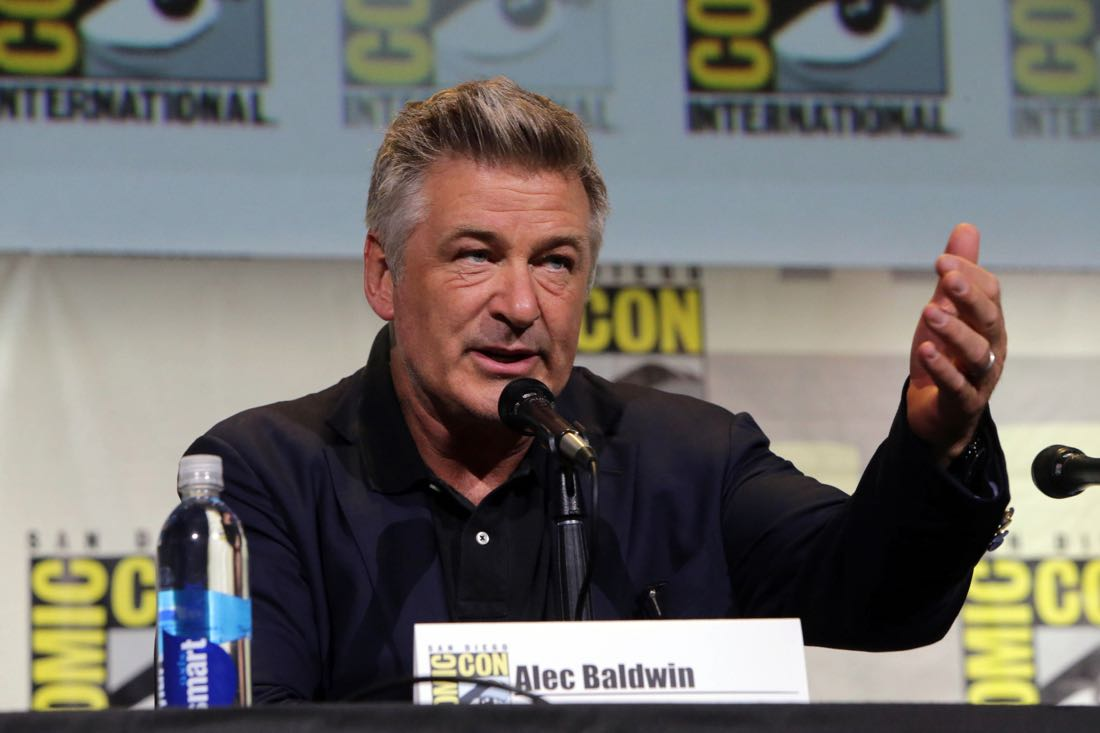 THE BOSS BABY voice actor Alec Baldwin at DreamWorks Animation's Comic Con Hall H Panel.