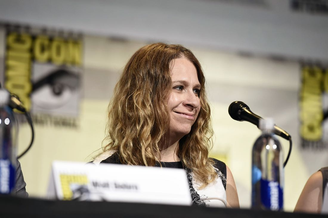 TROLLS Producer Gina Shay at DreamWorks Animation's Comic Con Hall H Panel.