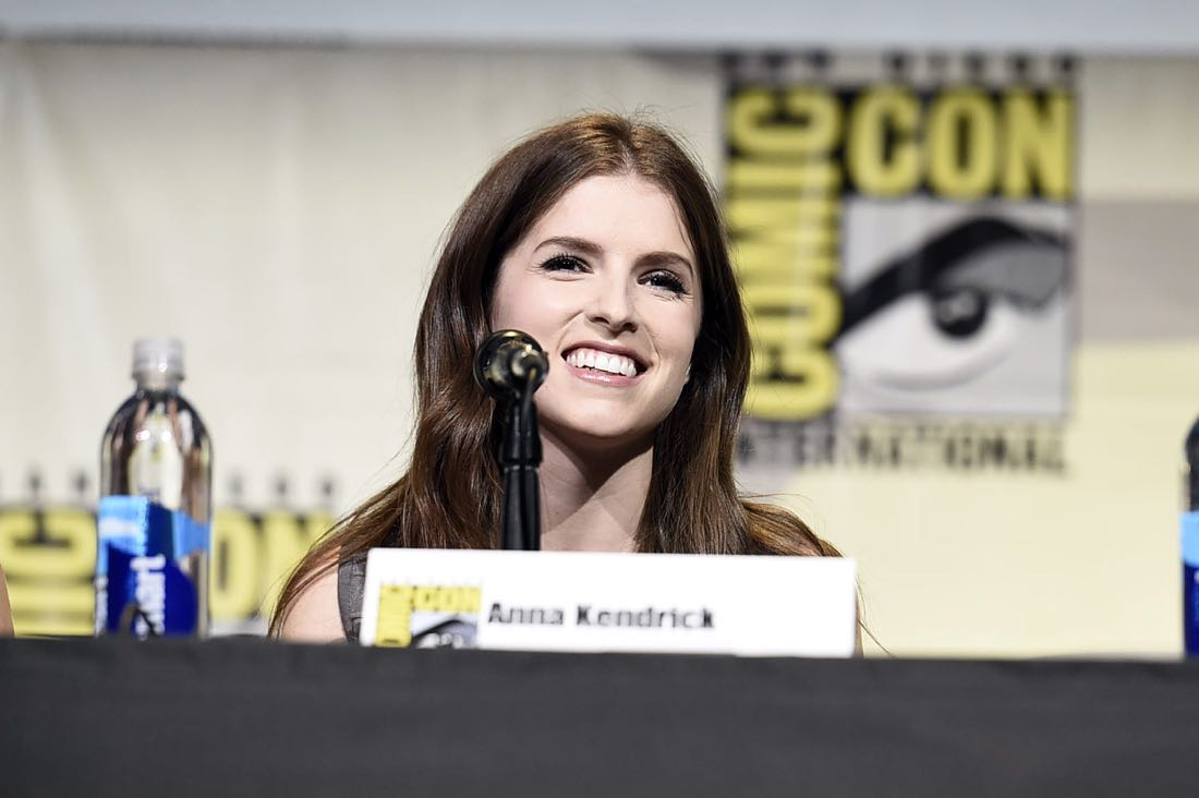 TROLLS voice actor Anna Kendrick at DreamWorks Animation's Comic Con Hall H Panel.