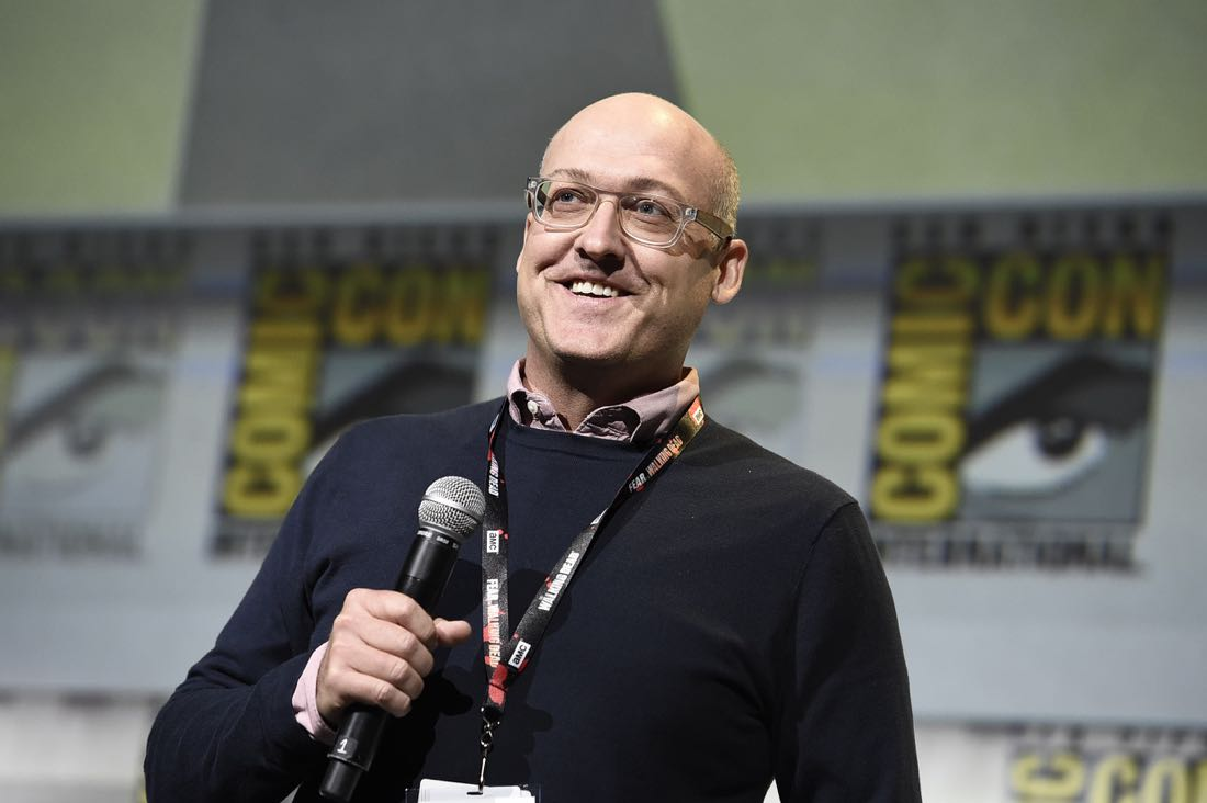 TROLLS Director Mike Mitchell at DreamWorks Animation's Comic Con Hall H Panel.