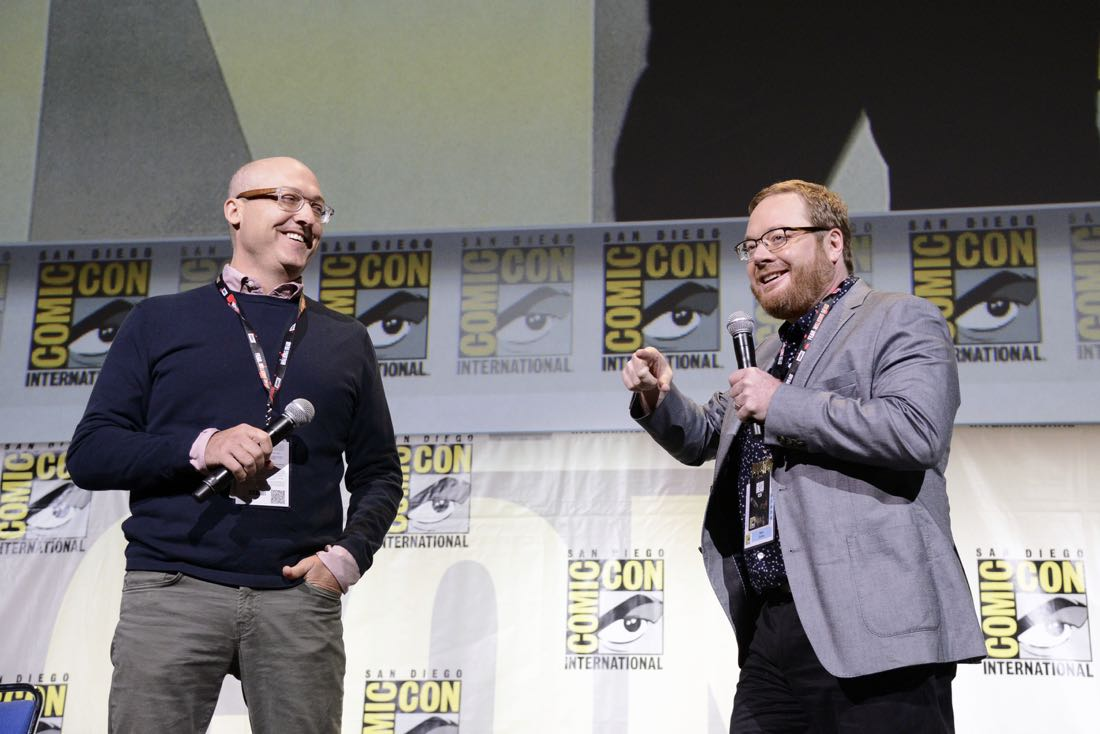 TROLLS Director Mike Mitchell and Co-Director Walt Dorn at DreamWorks Animation's Comic Con Hall H Panel.