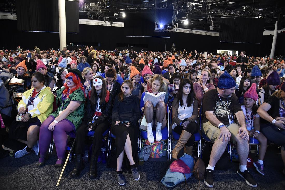 TROLLS audience at DreamWorks Animation's Comic Con Hall H Panel.